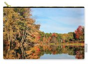 Fall Reflections On Sabattus River Carry-all Pouch