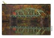 Fall Rocks Village Bridge Carry-all Pouch