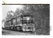 Fall Train In Black And White Carry-all Pouch by Rick Morgan