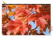 Fall Tree Leaves Art Prints Blue Sky Autumn Baslee Troutman Carry-all Pouch