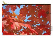 Fall Tree Leaves Red Orange Autumn Leaves Blue Sky Carry-all Pouch