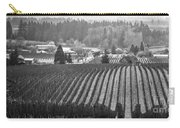 Vineyard In Black And White Carry-all Pouch