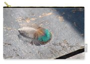 Fallen Peacock Feather Carry-all Pouch