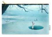 Fallen Through The Ice Carry-all Pouch by Jill Battaglia