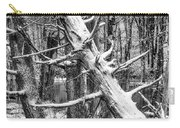 Fallen Tree And Snow Carry-all Pouch
