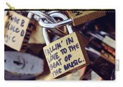 Falling In Love To The Beat Of The Music, Love Lock Carry-all Pouch