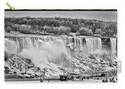 Falls Black And White Carry-all Pouch