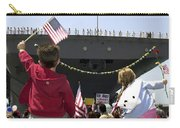 Family And Friends Wait To Welcome Home Carry-all Pouch by Stocktrek Images