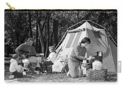 Family Camping, C.1970s Carry-all Pouch