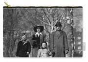 Family Out Walking On A Wintry Day Carry-all Pouch