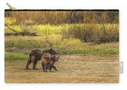 Family Walk At Dawn Carry-all Pouch
