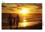 Family Walk On Beach Carry-all Pouch
