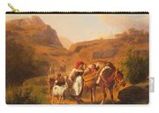 Family With Animals Carry-all Pouch