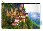 Famous Tigers Nest Monastery Of Bhutan 11 Carry-all Pouch