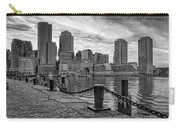Fan Pier Boston Harbor Bw Carry-all Pouch