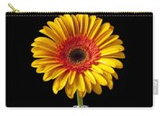 Fancy Daisy In Stripped Vase  Carry-all Pouch