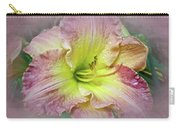 Fancy Daylily In Pink And Yellow Carry-all Pouch