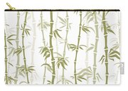 Fancy Japanese Bamboo Watercolor Painting Carry-all Pouch