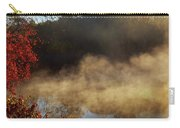 Fantastic Foggy River With Fresh Green Grass In The Sunlight. Carry-all Pouch