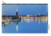Fantastic Stockholm And Gamla Stan Reflection From A Distant Bridge Carry-all Pouch