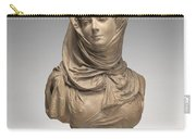 Fantasy Bust Of A Veiled Woman (marguerite Bellanger?) Carry-all Pouch