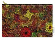 Fantasy Flowers Woodcut Carry-all Pouch