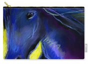 Fantasy Friesian Horse Painting Print Carry-all Pouch