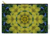 Fantasy Plumeria Decorative Real And Mandala Carry-all Pouch