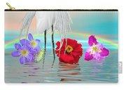 Fantasy Stork-flowers-rainbow On Ocean Carry-all Pouch
