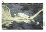 Farbiger Holzschnitt Zwei Schw Ne 1902 Carry-all Pouch