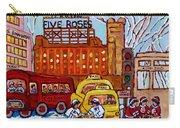 Farine Five Roses Montreal 375 Hometown Hockey Hotel Bonaventure Tour Bus Canadian Art C Spandau Art Carry-all Pouch