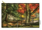 Farm - Fence - On A Country Road Carry-all Pouch