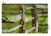 Farm - Fence - The Old Fence Post  Carry-all Pouch