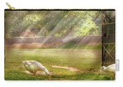 Farm - Geese -  Birds Of A Feather - Panorama Carry-all Pouch by Mike Savad