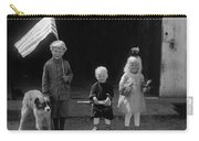 Farm Children And Flag Carry-all Pouch