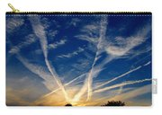Farm Evening Skies Carry-all Pouch by Rick Morgan