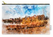 Farm Fall Colors Watercolor Carry-all Pouch by Michael Colgate