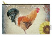Farm Fresh Barnyard Rooster Morning Sunflower Rustic Carry-all Pouch