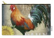 Farm Fresh Red Rooster Sunflower Rustic Country Carry-all Pouch