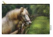 Farm - Horse - White Stallion Carry-all Pouch