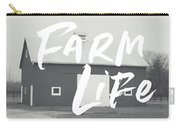Farm Life Barn- Art By Linda Woods Carry-all Pouch by Linda Woods
