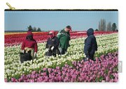 Farm Workers In Tulips Carry-all Pouch