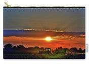 Farmer And A Sunset. Carry-all Pouch
