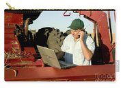 Farmer With Laptop And Cell Phone Carry-all Pouch