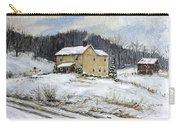 Farmhouse Snowman Carry-all Pouch