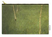 Farmhouse With Birch Trees Carry-all Pouch by Gustav Klimt