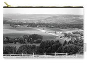 Farming Panorama Finger Lakes New York Bw Carry-all Pouch