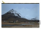Farms At The Base Of Mt Stapafell In Iceland Carry-all Pouch