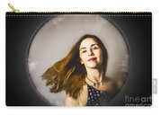 Fashion And Makeup Woman At Beauty Salon Store Carry-all Pouch