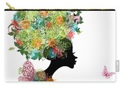 Fashion Girl With Hair Arabesque Carry-all Pouch